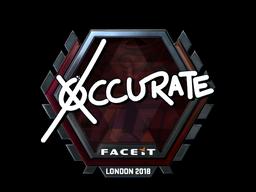 Наклейка   xccurate (металлическая)   Лондон 2018