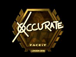 Наклейка   xccurate (золотая)   Лондон 2018