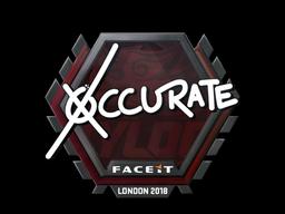 Наклейка   xccurate   Лондон 2018