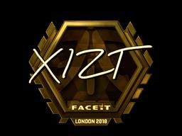 Sticker   Xizt (Gold)   London 2018