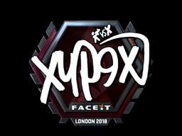 Наклейка | Xyp9x (металлическая) | Лондон 2018