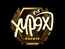 Наклейка | Xyp9x (золотая) | Лондон 2018