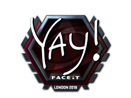 Наклейка   yay (металлическая)   Лондон 2018