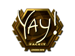 Наклейка   yay (золотая)   Лондон 2018