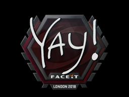 Наклейка   yay   Лондон 2018
