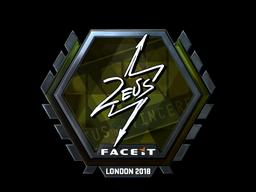 Sticker   Zeus (Foil)   London 2018