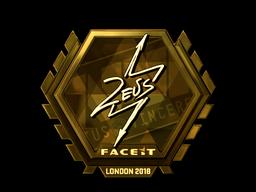 Sticker   Zeus (Gold)   London 2018
