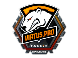 Наклейка | Virtus.Pro (металлическая) | Лондон 2018