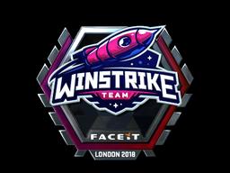 Наклейка | Winstrike Team (металлическая) | Лондон 2018