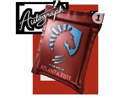 Капсула с автографом | Team Liquid | Атланта 2017