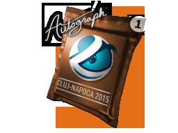 Капсула с автографом | Luminosity Gaming | Клуж-Напока 2015