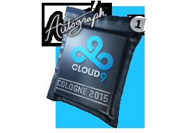 Капсула с автографом   Cloud9 G2A   Кёльн 2015