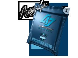 Капсула с автографом | Counter Logic Gaming | Кёльн 2016