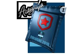 Капсула с автографом | Gambit Gaming | Кёльн 2016