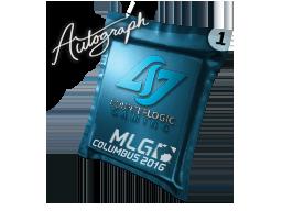 Капсула с автографом | Counter Logic Gaming | MLG Columbus 2016