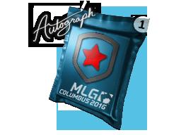 Капсула с автографом   Gambit Gaming   MLG Columbus 2016